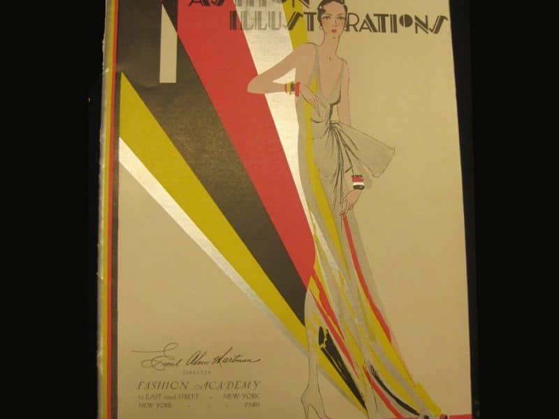 Photo of vintage Fashion Illustration book
