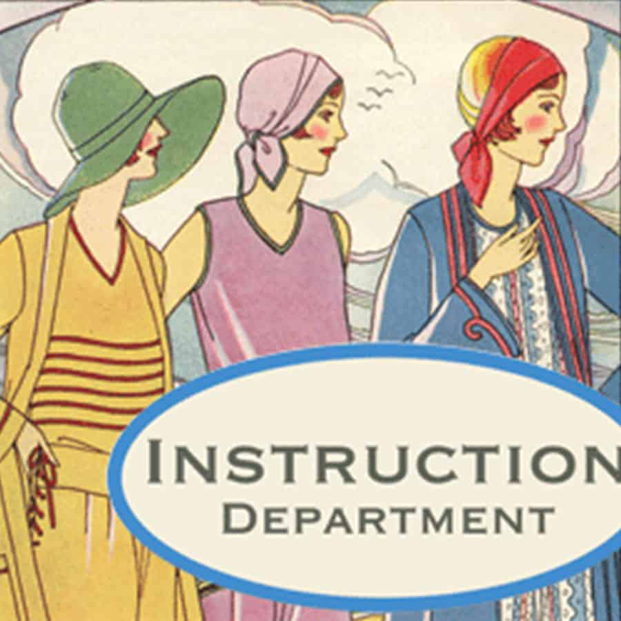 Vintage illustration of women