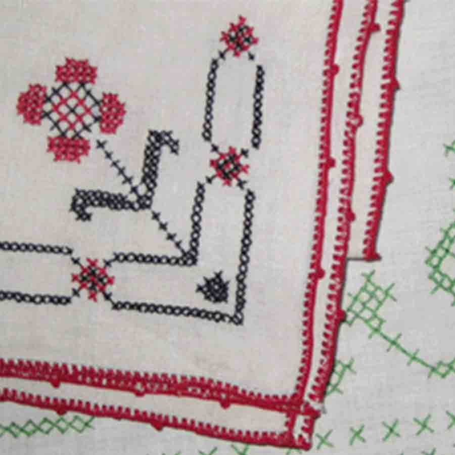 Close up of stitching
