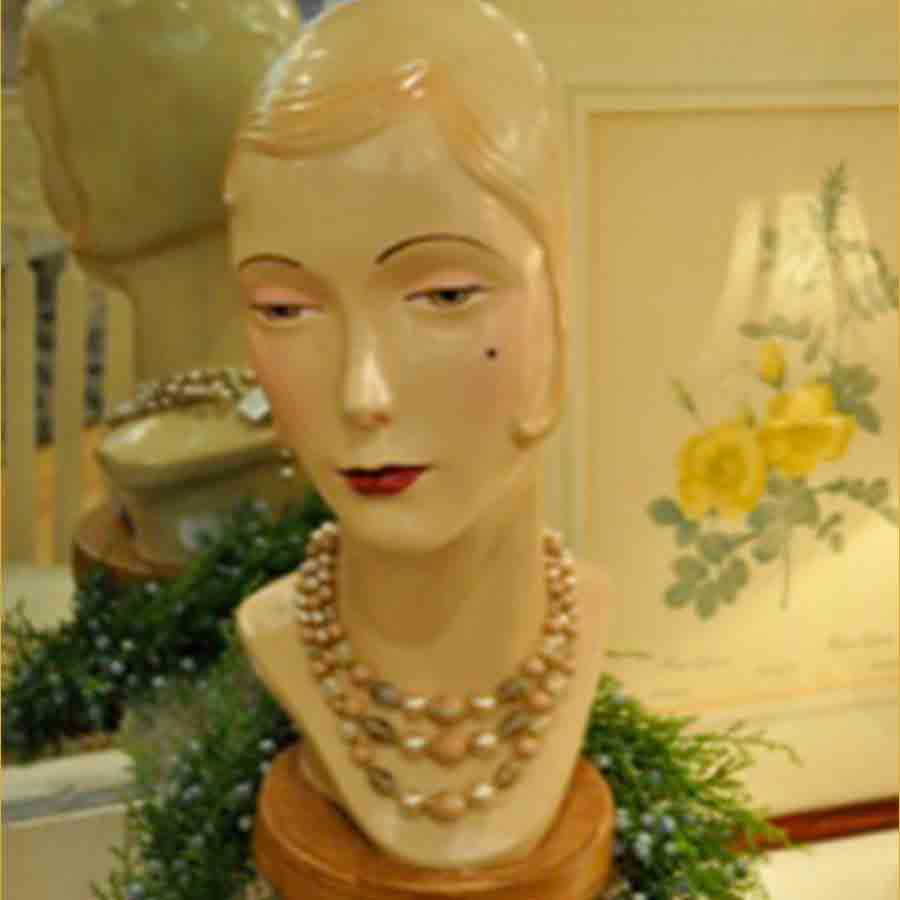 Bust of lady with necklace