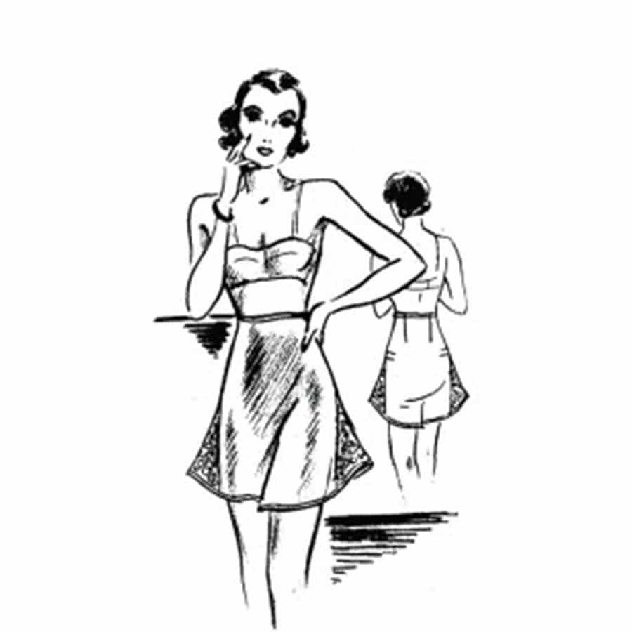 vintage undies illustration