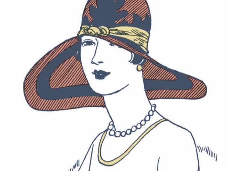 vintage hat illustration