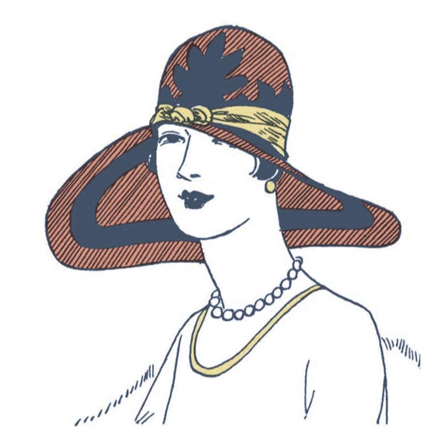 vintage hat illustration