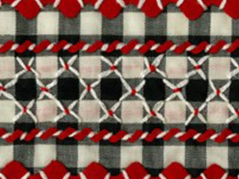 Gingham with stitching accents