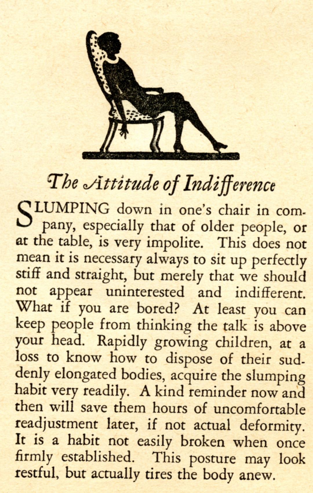Favorite Vintage Advice: Attitude of Indifference
