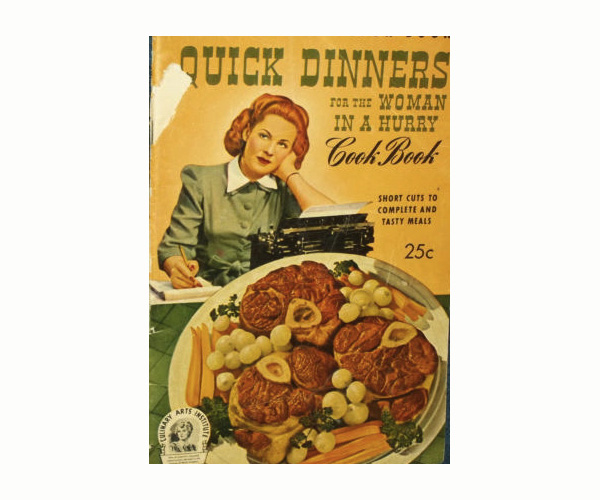 Favorite Vintage Advice: Quick Dinners for the Woman in a Hurry