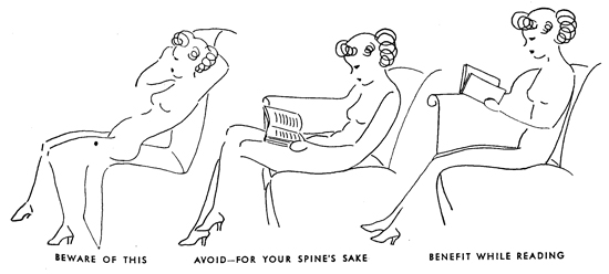 Favorite Vintage Advice: For Your Spine's Sake