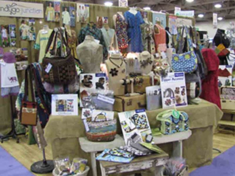 Booth at Quilt Market KC