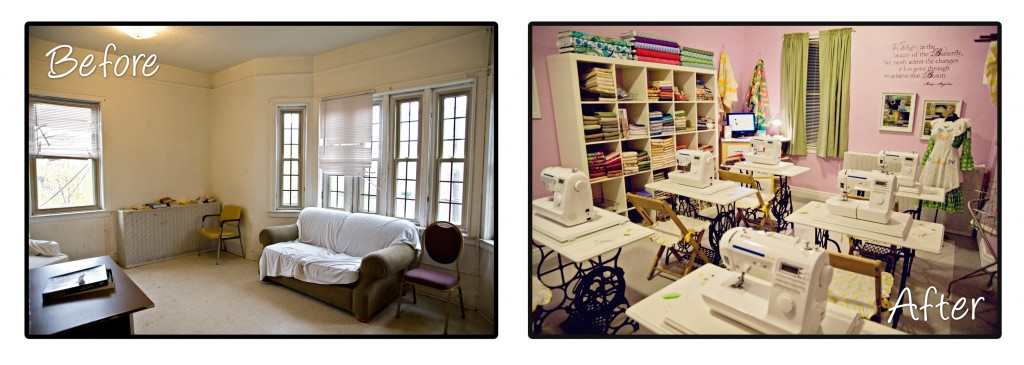 BEFORE AND AFTER_SEWING ROOM