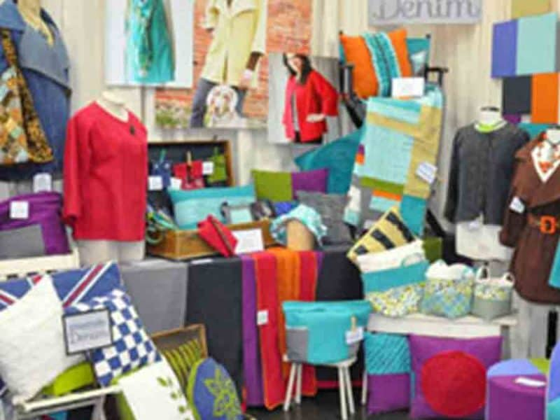 Booth at Quilt Market