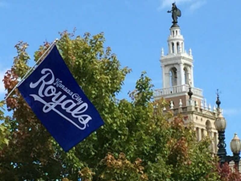 Photo of Royals Flag over KC Plaza