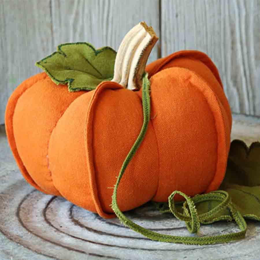 handmade felt pumpkin