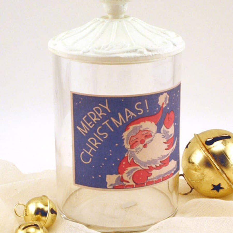 picture of santa image on jar
