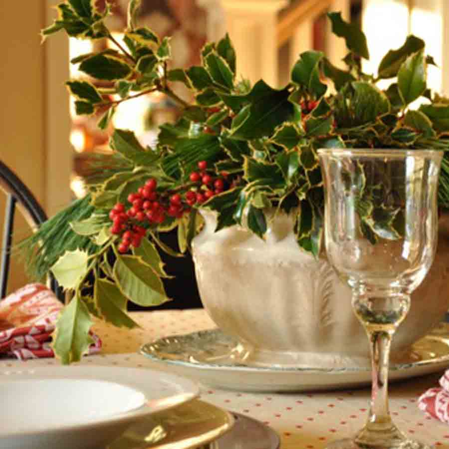 Deck the Halls with a Holly Centerpiece