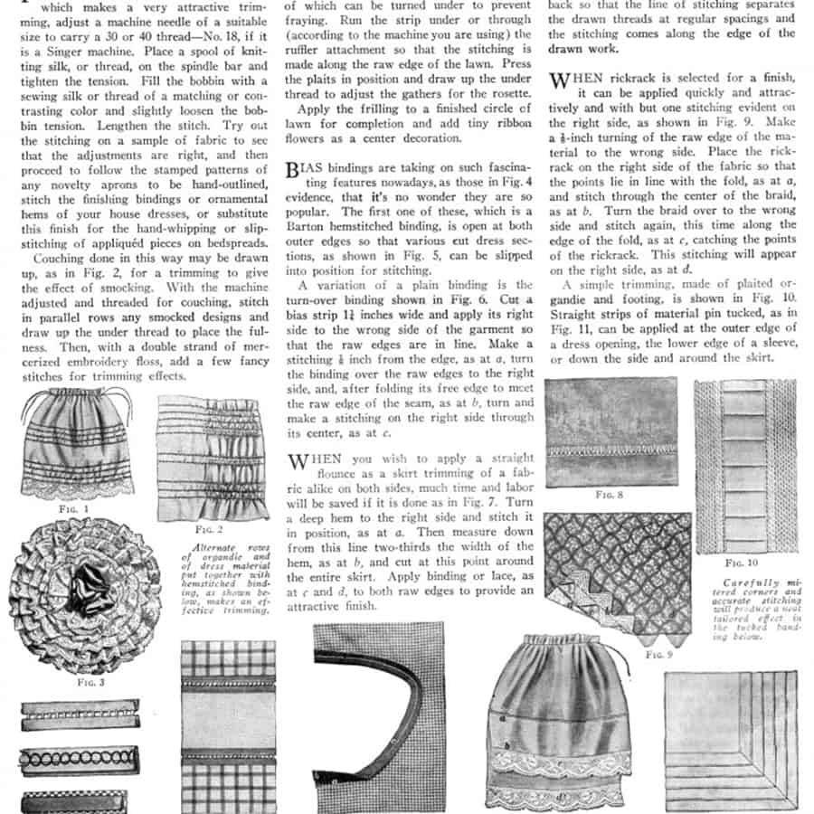 vintage sewing article