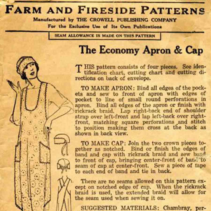 Vintage pattern advertisment