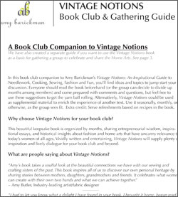 Vintage Notions Book Club Guide