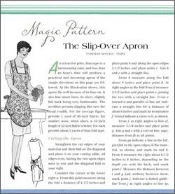 Magic Pattern: Slip-over apron