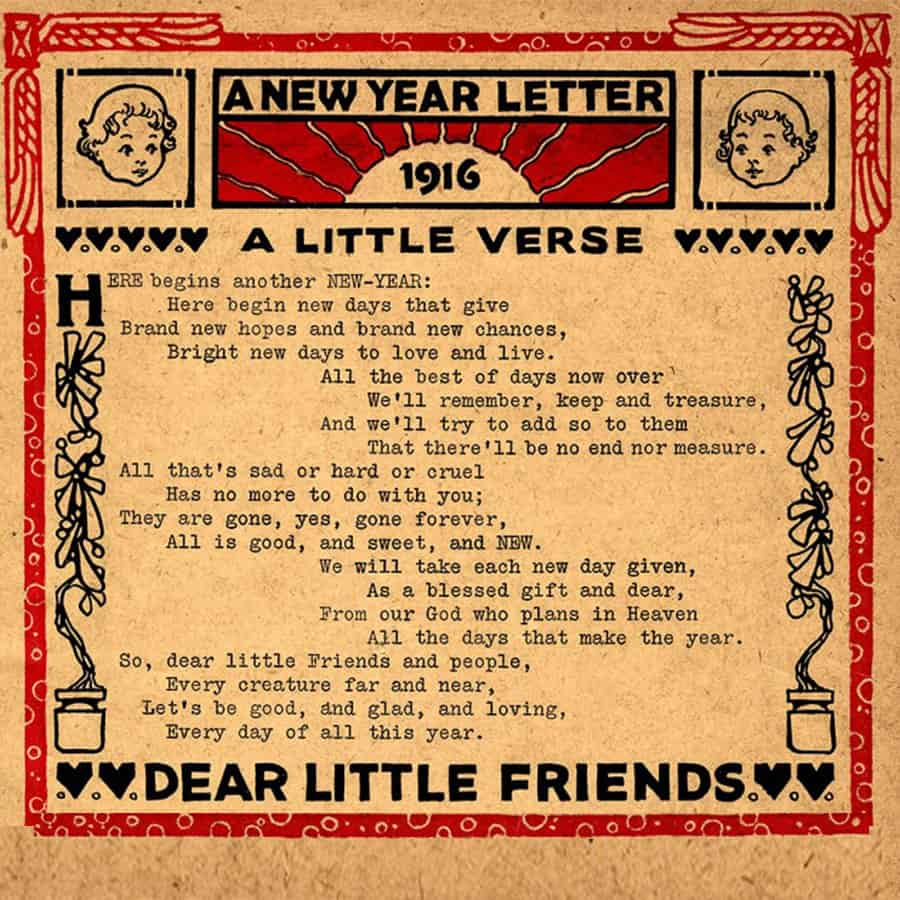 John Martin New Year Letter