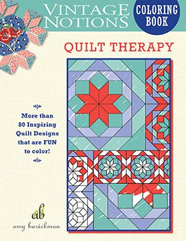 Vintage Notions Coloring Book: Quilt Therapy