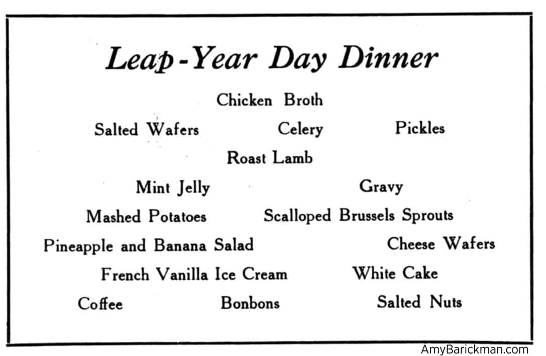 Leap Year Day Dinner