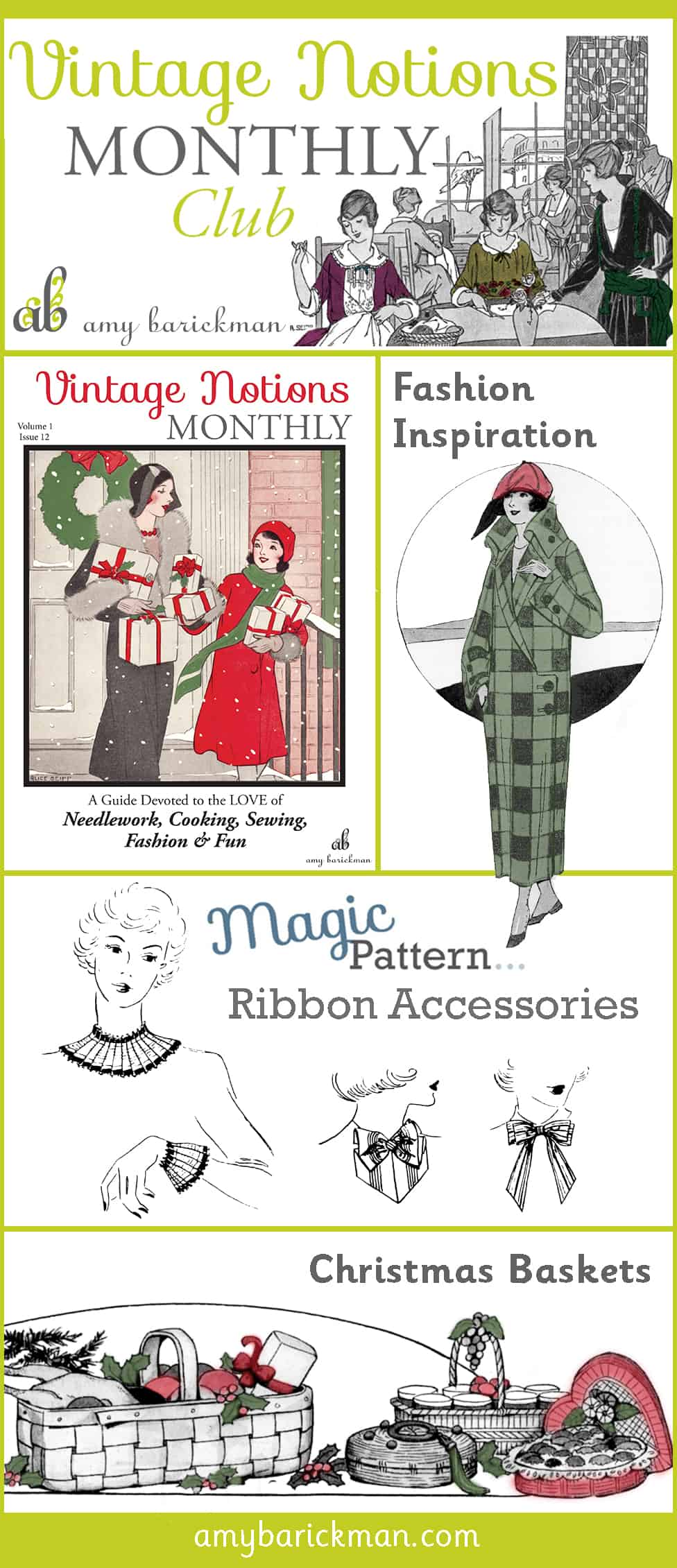 Author Amy Barickman's Vintage Notions Monthly is a delightful peek into the past!