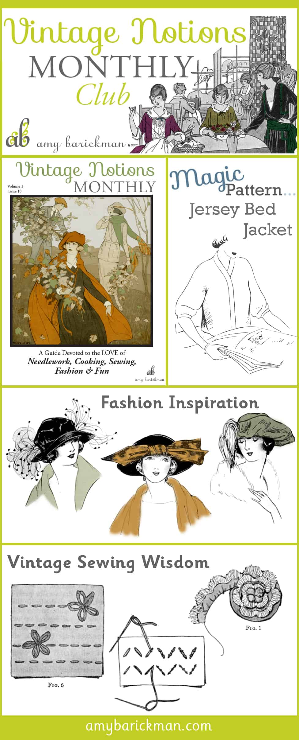 Vintage Notions Monthly is a peek back in time, celebrating the domestic arts, and wisdom of days gone by!