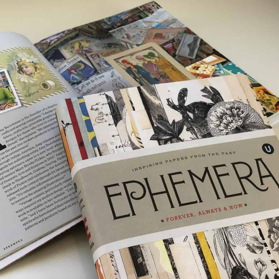 Ephemera cover and inside spread