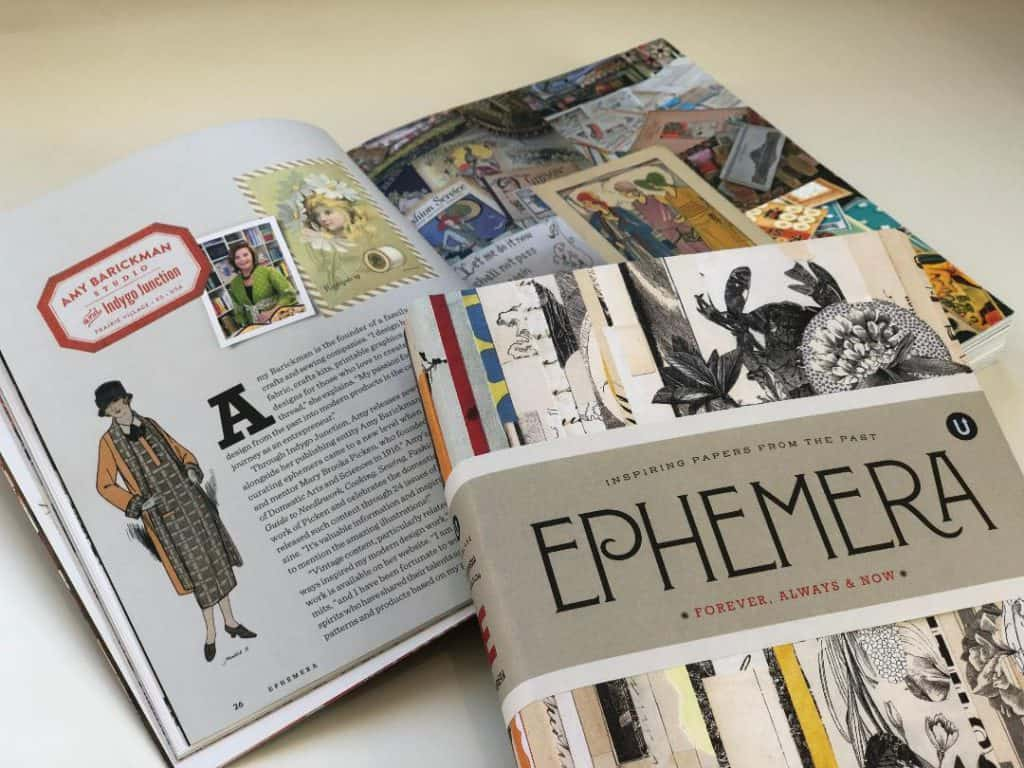 Ephemera book cover and inside
