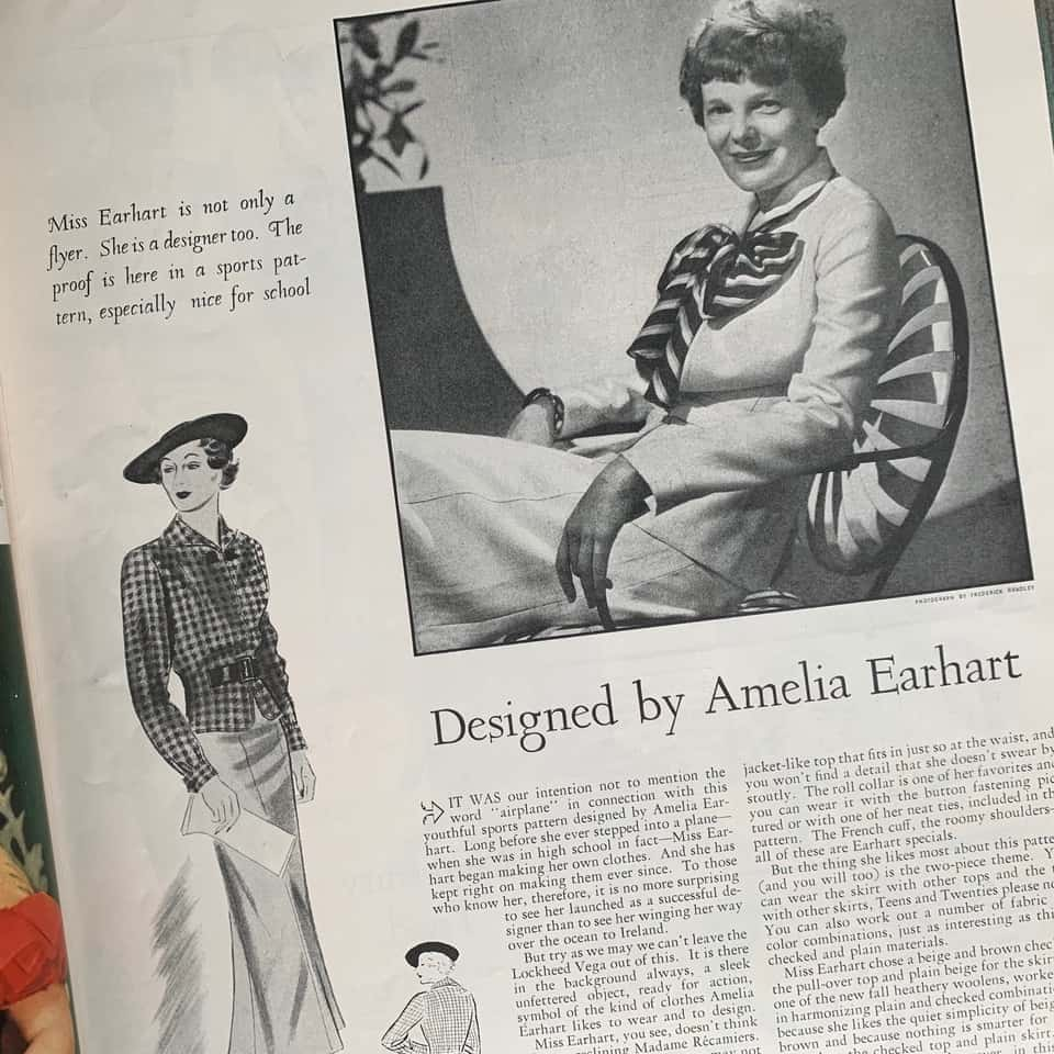 News article about Amelia Earhart