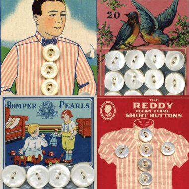 Vintage Button Card images