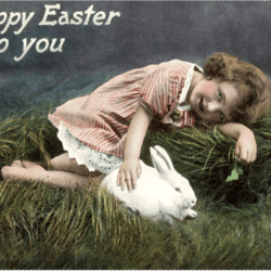 Easter, Happy vintage