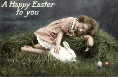 Easter, Happy vintage