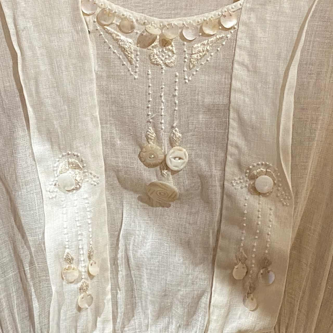 Vintage Dress with Pearl Buttons