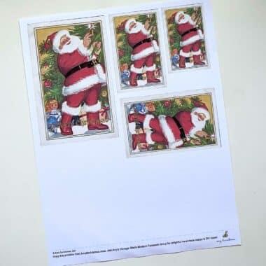 photo of Santa Candle Tree printout
