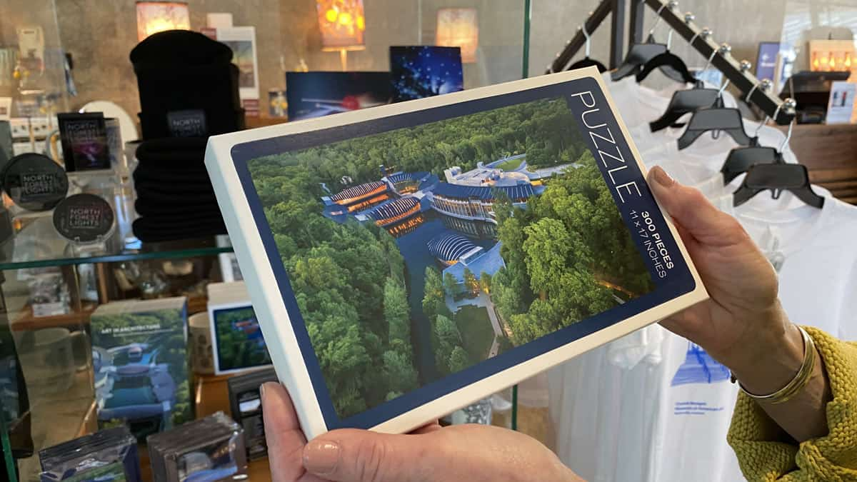 Crystal Bridges puzzle in gift shop