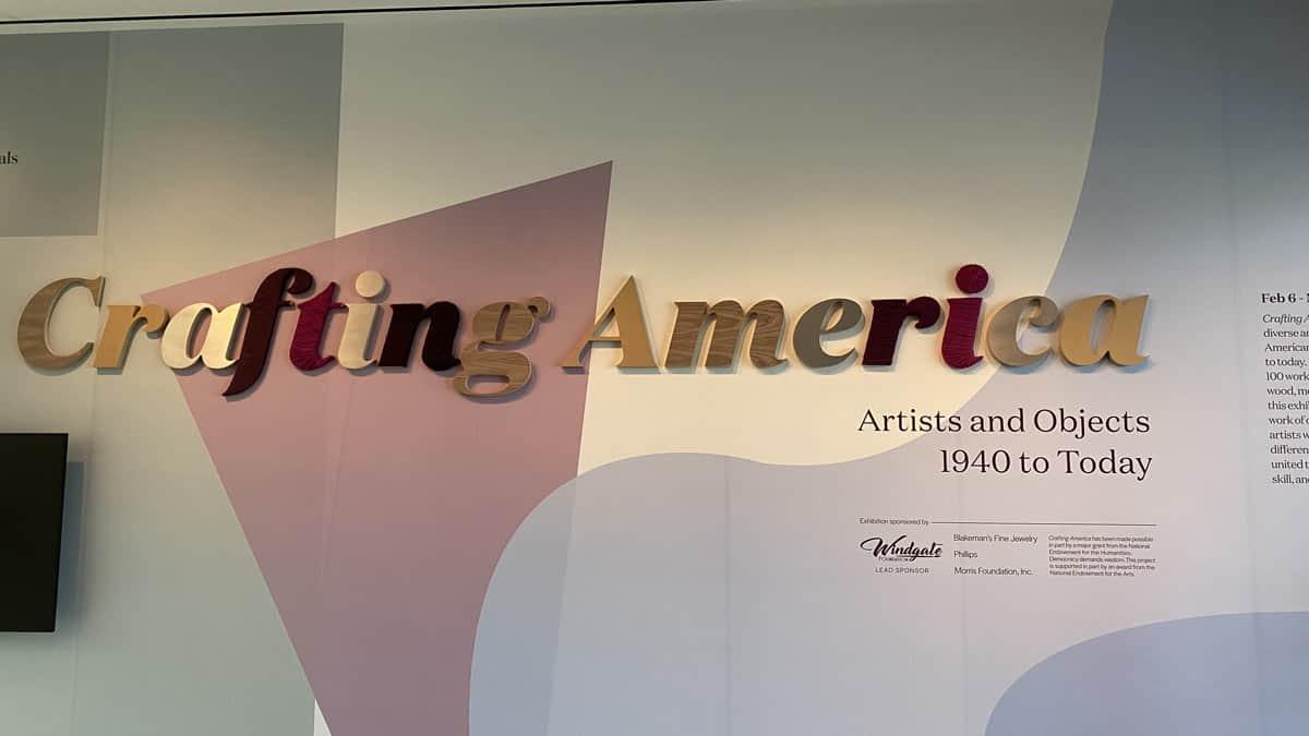 Crafting America exhibit entrance
