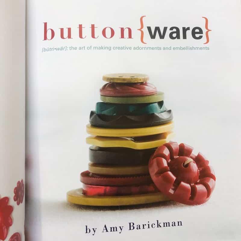 Buttonware book closeup