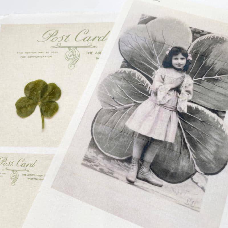 Clover Girl with Postcard