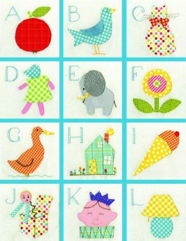 Alphabet quilt a-l