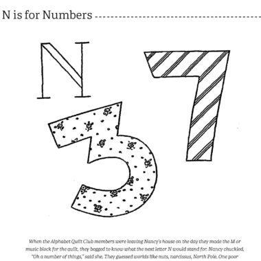 Alphabet Applique interior page