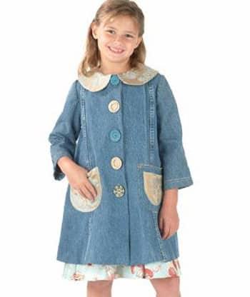Girl in denim dress