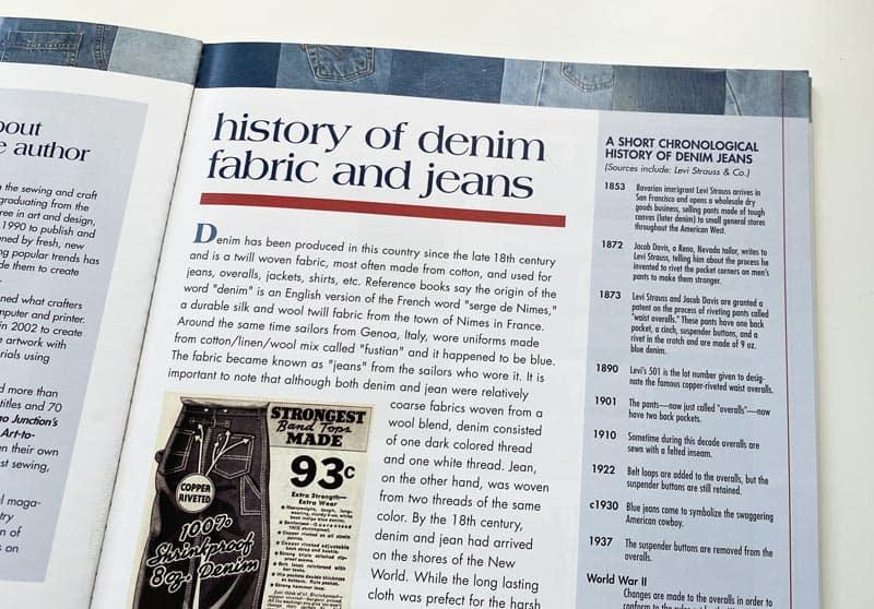 History of denim