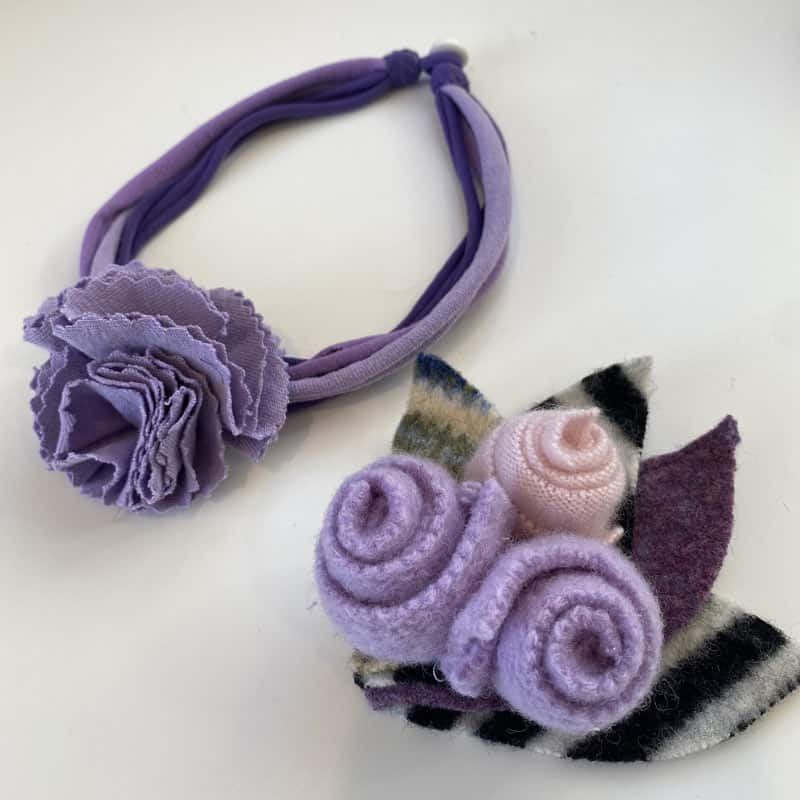 Purple Sweater Flowers