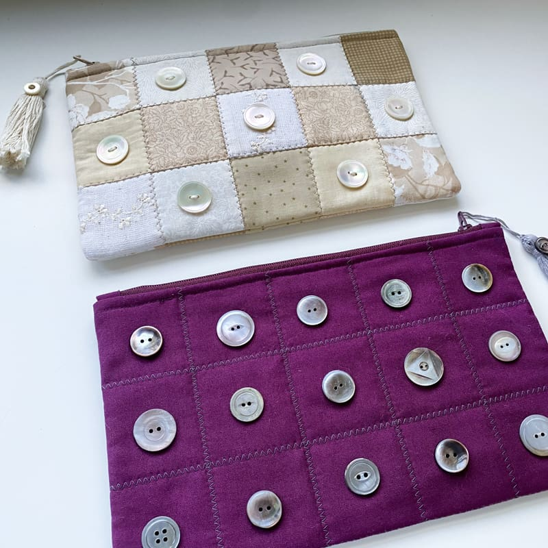 Pearl Button Pouch