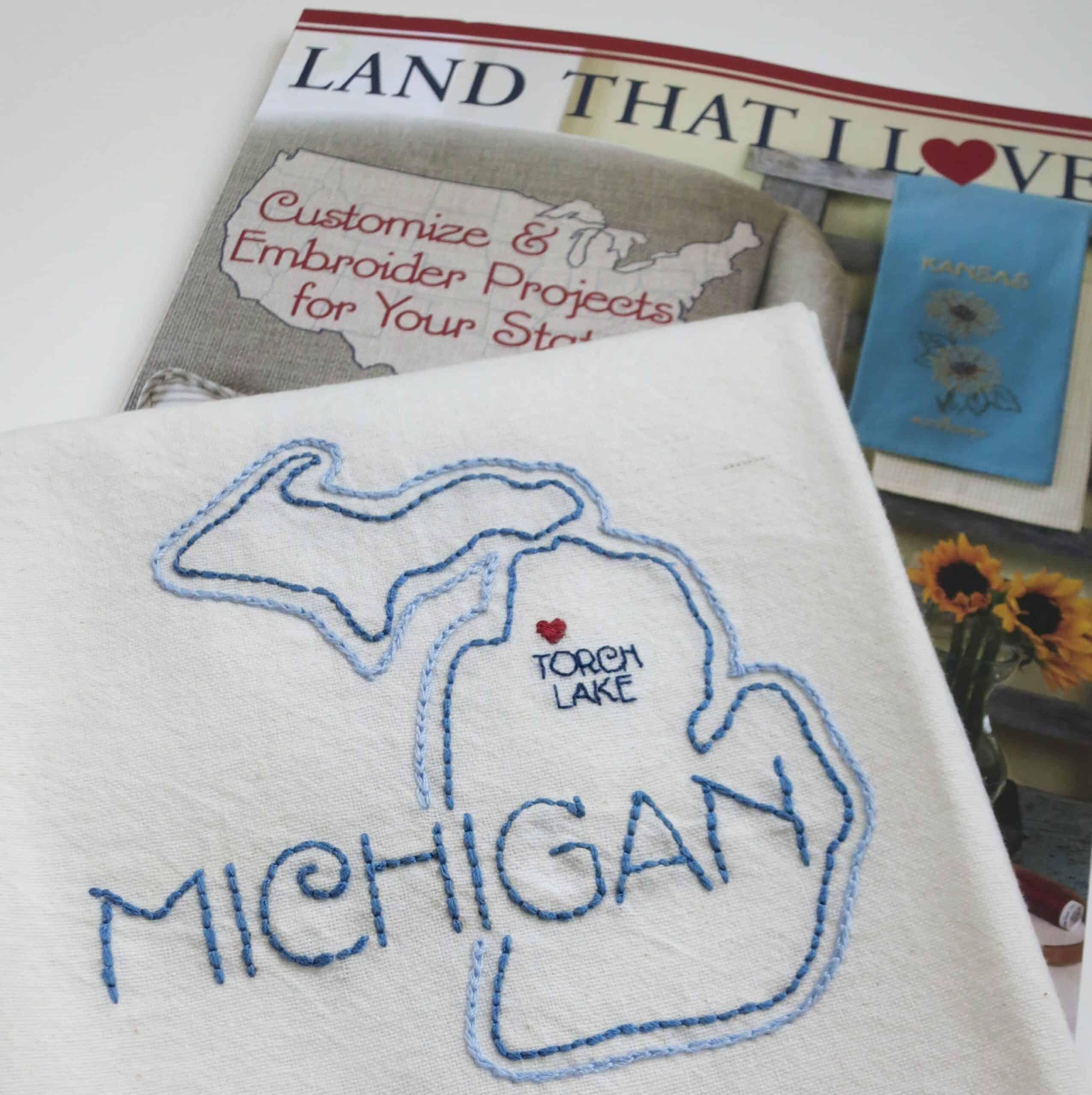 Land That I Love Michigan Towel