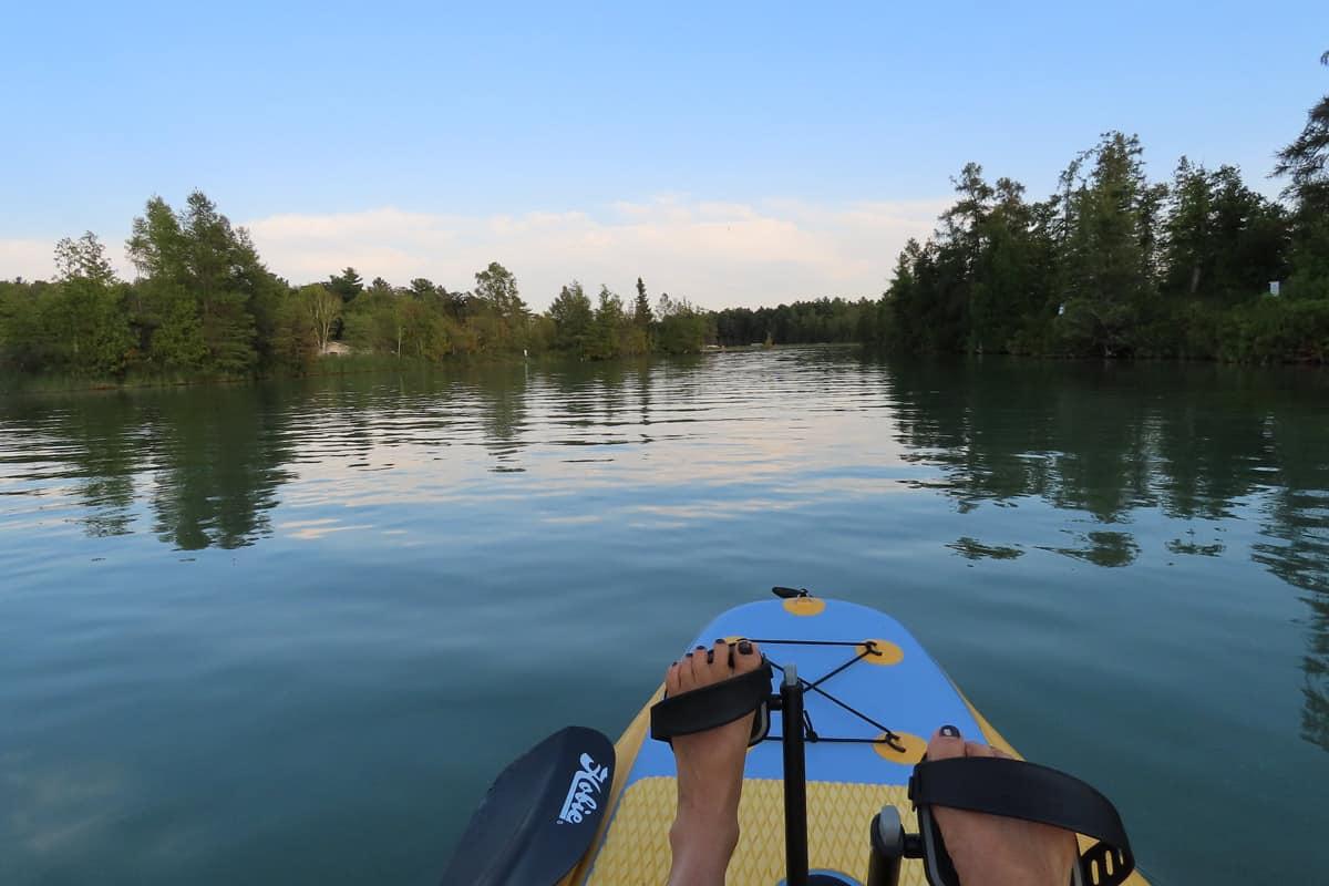 Amy on kayak
