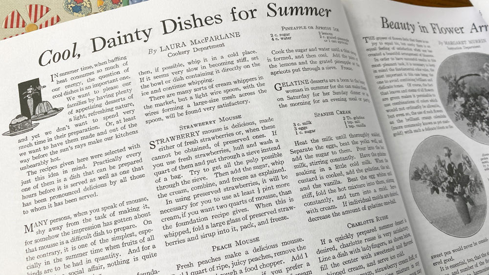 Dishes For Summer