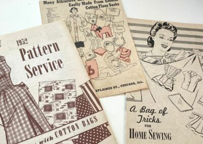 The Feedsack Course also features several bonus publications includeing A Bag of Tricks For Home Sewing