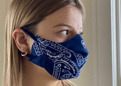 Create face masks with bandanas